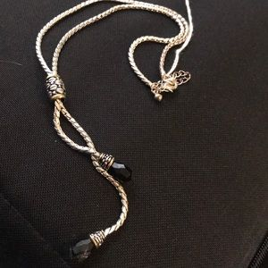 Silver Lariet Necklace Earring set , Hardy Style !